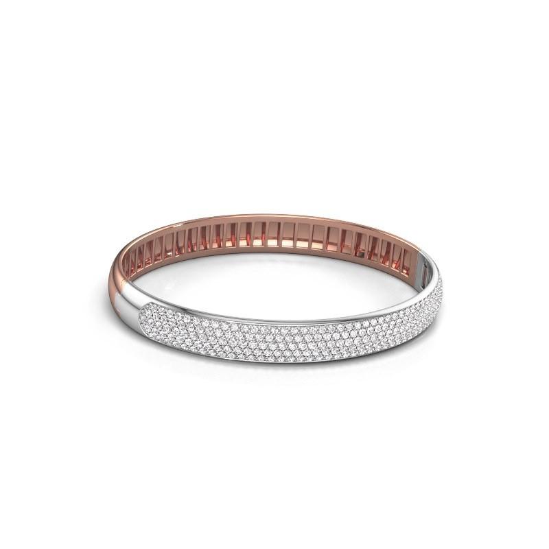 Slavenarmband Emely 8mm 585 rosé goud diamant 3.036 crt