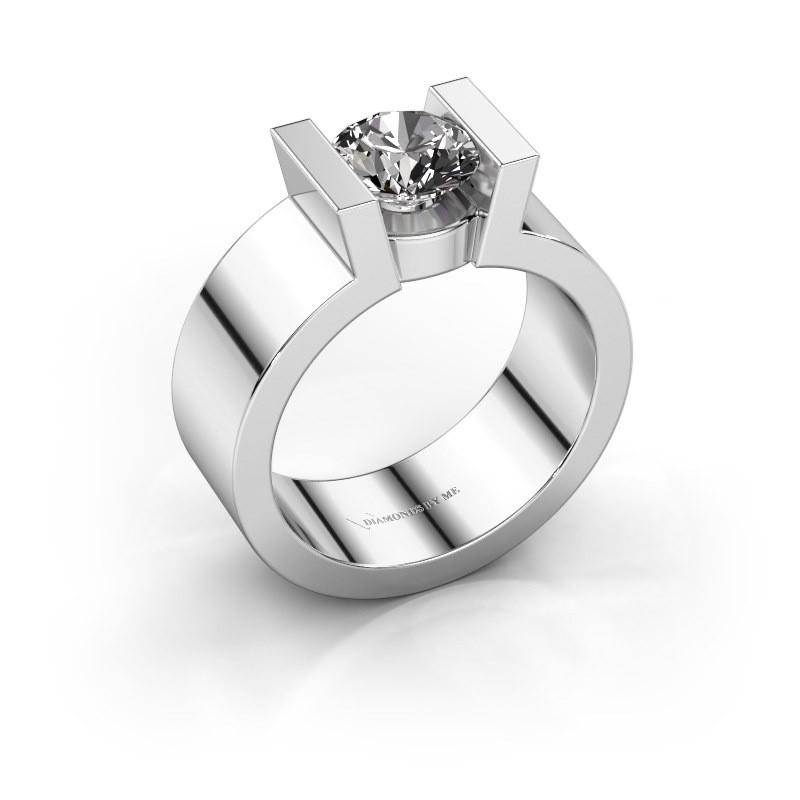 Verlovingsring Lieve 1 925 zilver diamant 1.00 crt