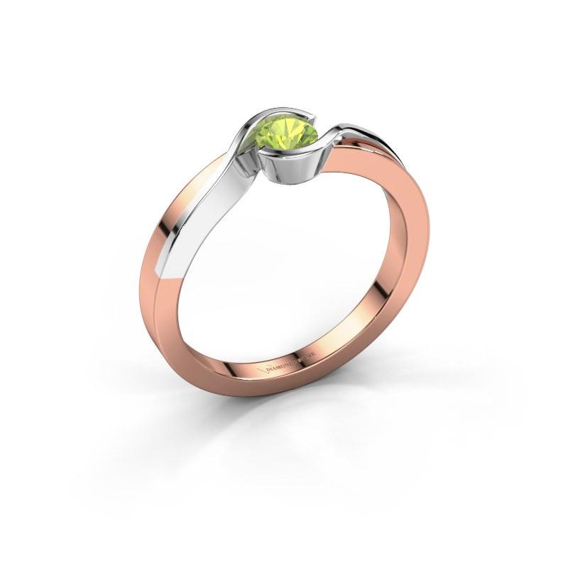 Ring Lola 585 Roségold Peridot 4 mm