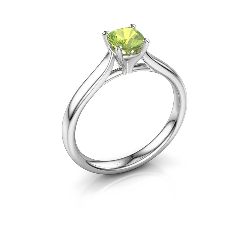 Verlobungsring Mignon cus 1 585 Weißgold Peridot 5 mm