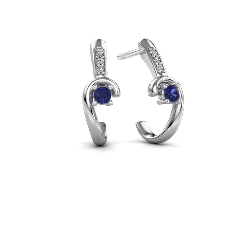 Earrings Ceylin 950 platinum sapphire 2.5 mm