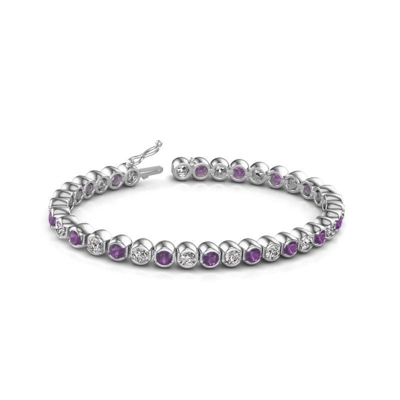 Tennis bracelet Bianca 585 white gold amethyst 4 mm