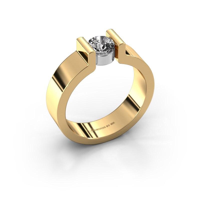 Verlovingsring Isabel 1 585 goud diamant 0.50 crt