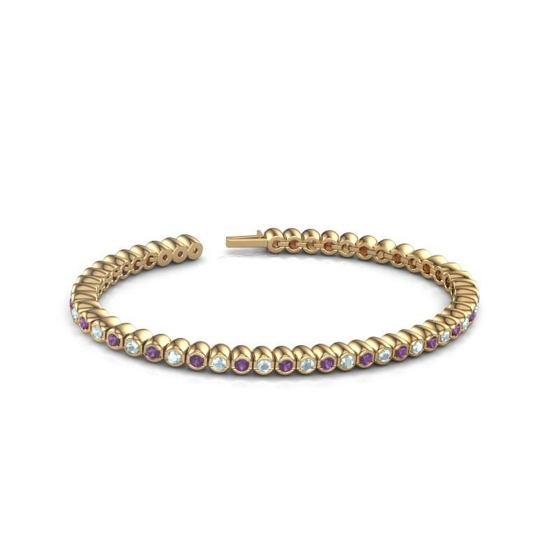 Tennisarmband Patrica 375 goud amethist 2.4 mm
