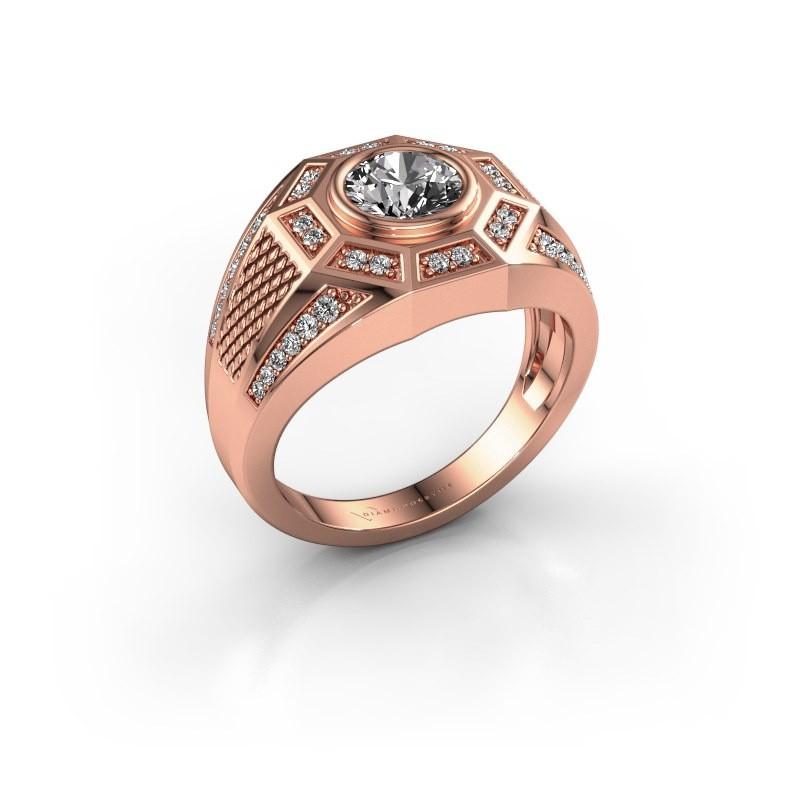 Heren ring Enzo 375 rosé goud diamant 1.345 crt