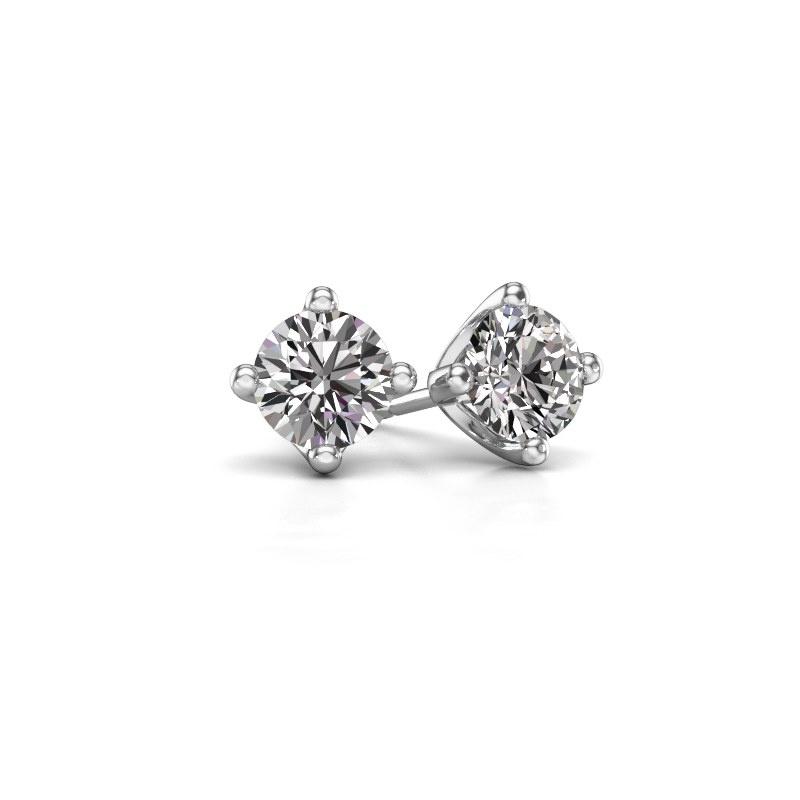 Oorknopjes Briana 585 witgoud diamant 0.20 crt