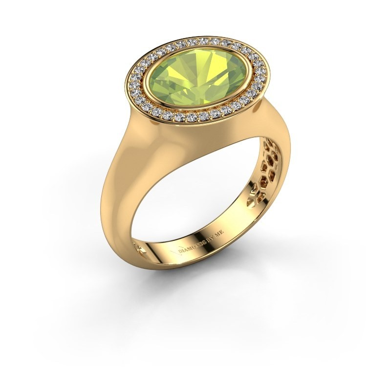 Ring Phebe 585 Gold Peridot 10x8 mm