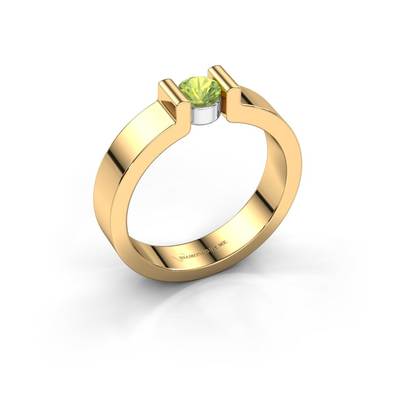 Verlovingsring Isabel 1 585 goud peridoot 4 mm
