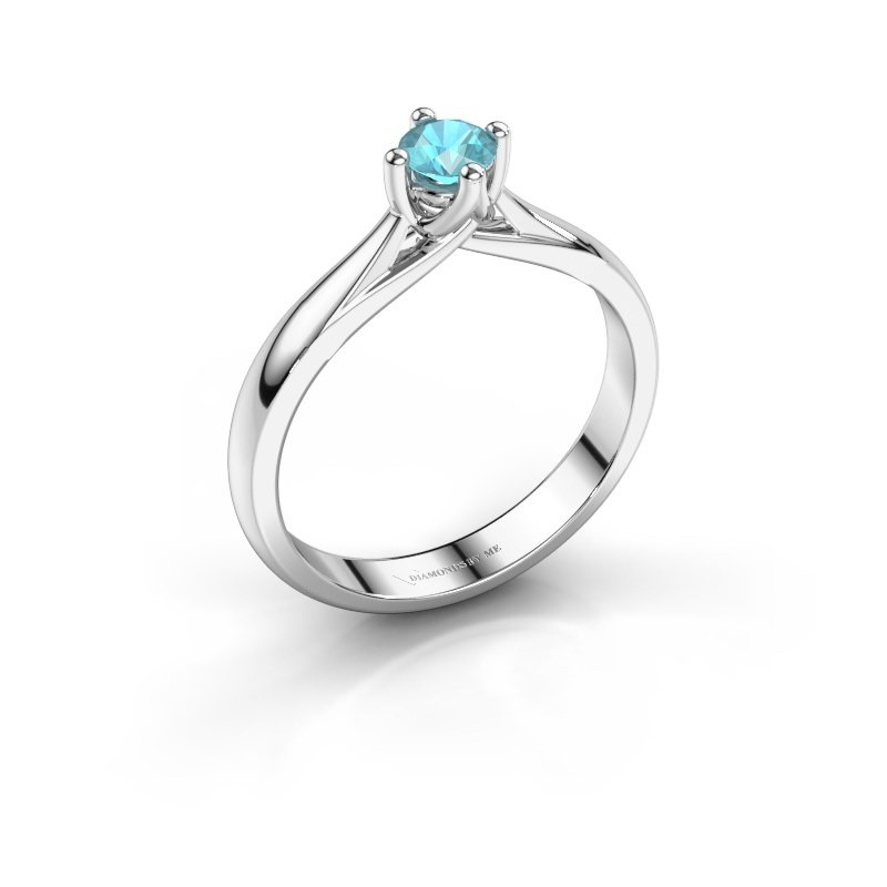 Engagement ring Janne 925 silver blue topaz 4.2 mm