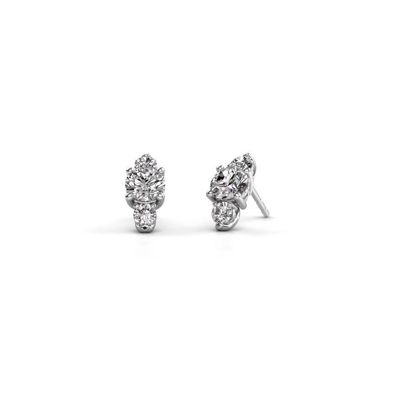 Oorbellen Amie 950 platina diamant 3.00 crt