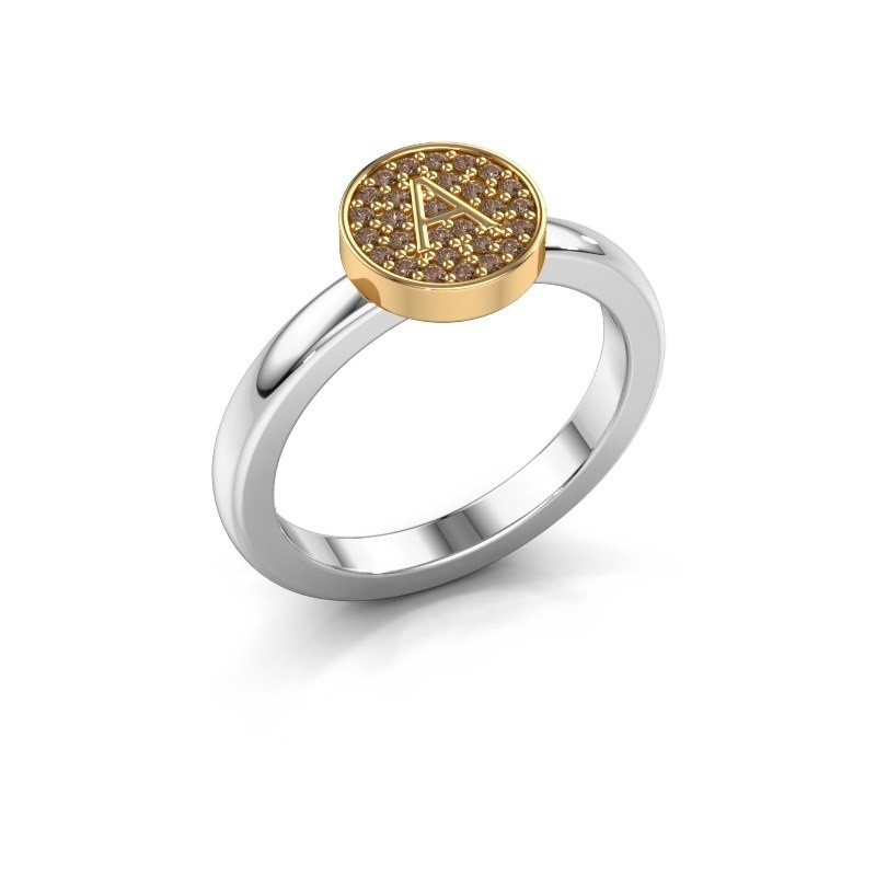 Ring Initial ring 010 585 witgoud