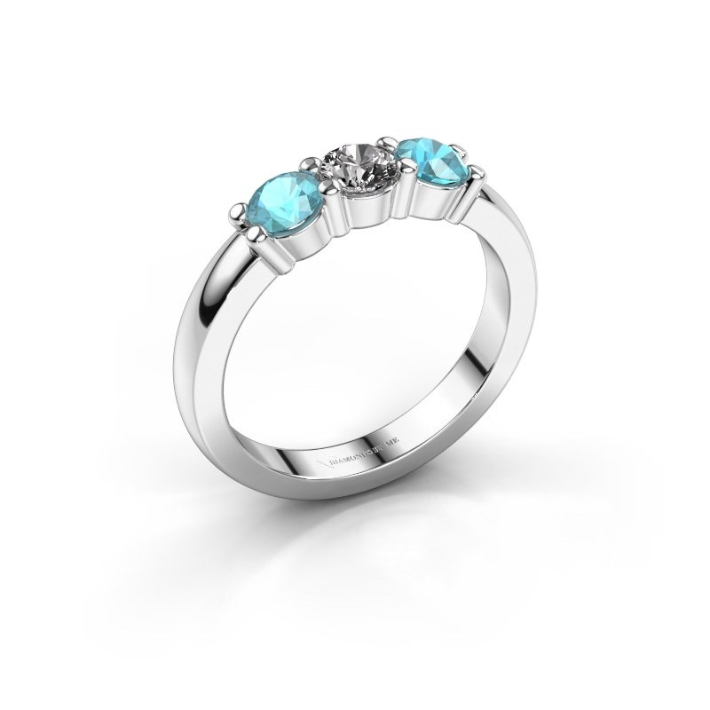 Verlobungsring Yasmin 3 585 Weißgold Diamant 0.30 crt