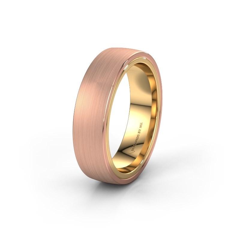 Trouwring WH2216M26DM 585 rosé goud ±6x2.4 mm