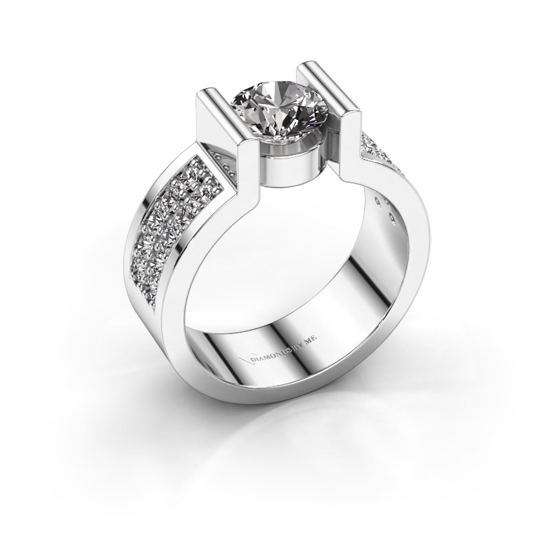 Verlovingsring Isabel 3 950 platina diamant 1.40 crt