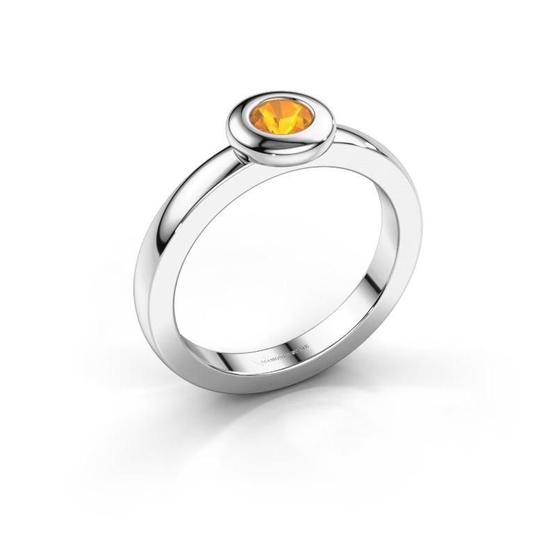 Ring Iris 585 white gold citrin 4 mm