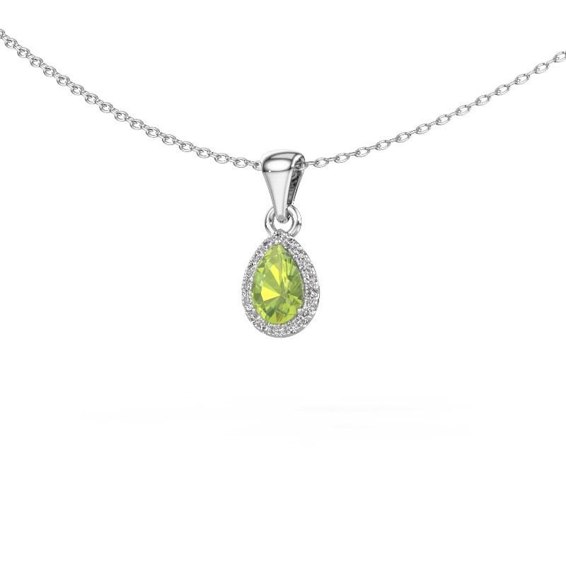 Halskette Seline per 925 Silber Peridot 6x4 mm