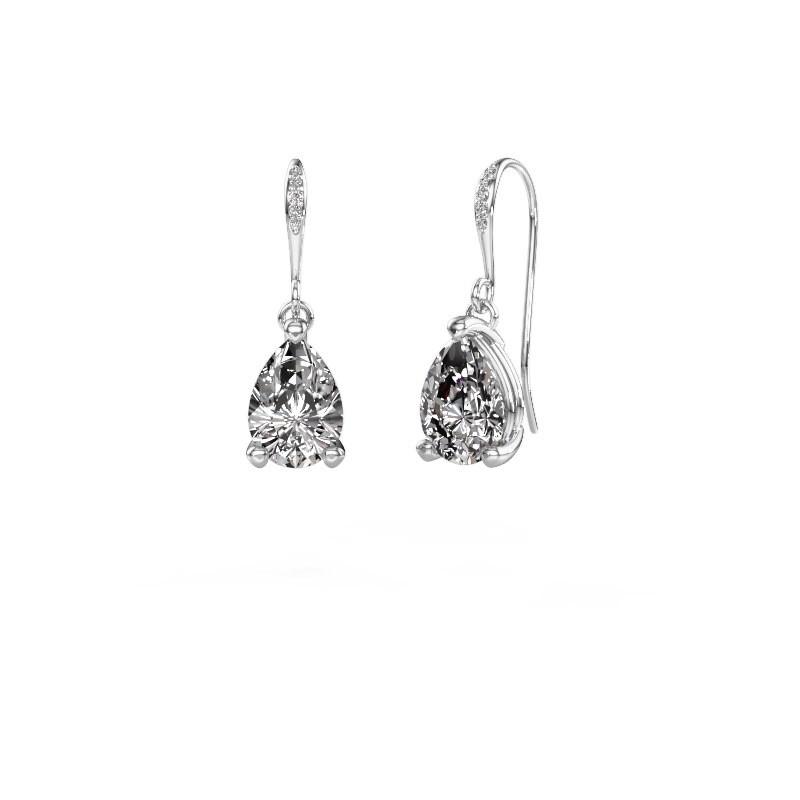 Oorhangers Laurie 2 375 witgoud diamant 0.65 crt