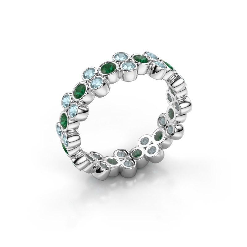 Ring Victoria 585 white gold emerald 2.4 mm