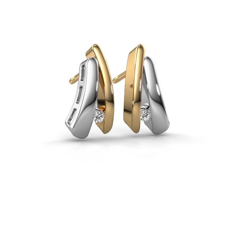 Oorbellen Liesel 585 goud diamant 0.06 crt