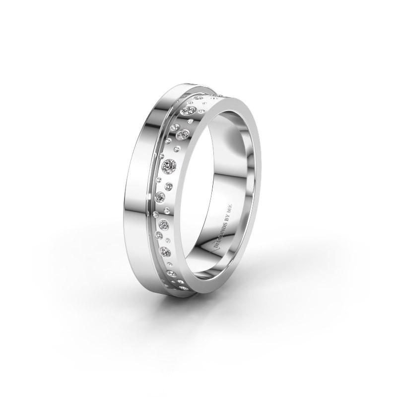 Trouwring WH6016L15E 950 platina diamant ±5x2.6 mm