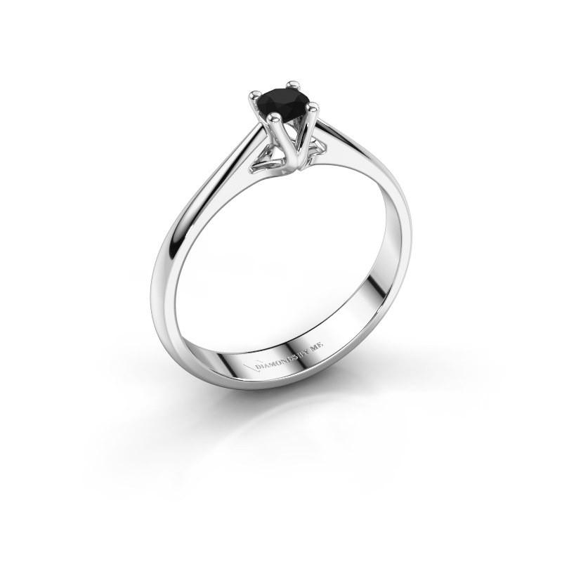 Engagement ring Janna 1 925 silver black diamond 0.18 crt