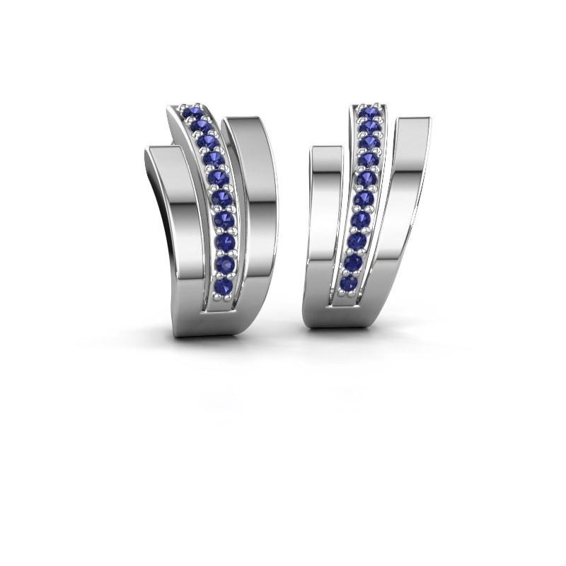 Earrings Emeline 925 silver sapphire 1.1 mm
