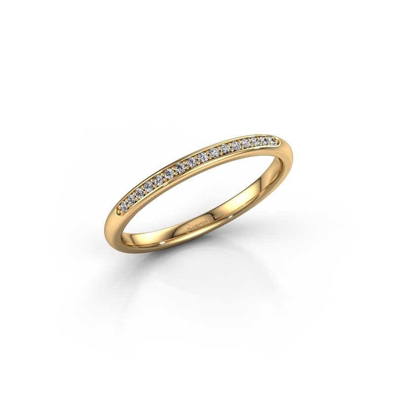 Stackable ring SR20B2H 375 gold lab grown diamond 0.08 crt