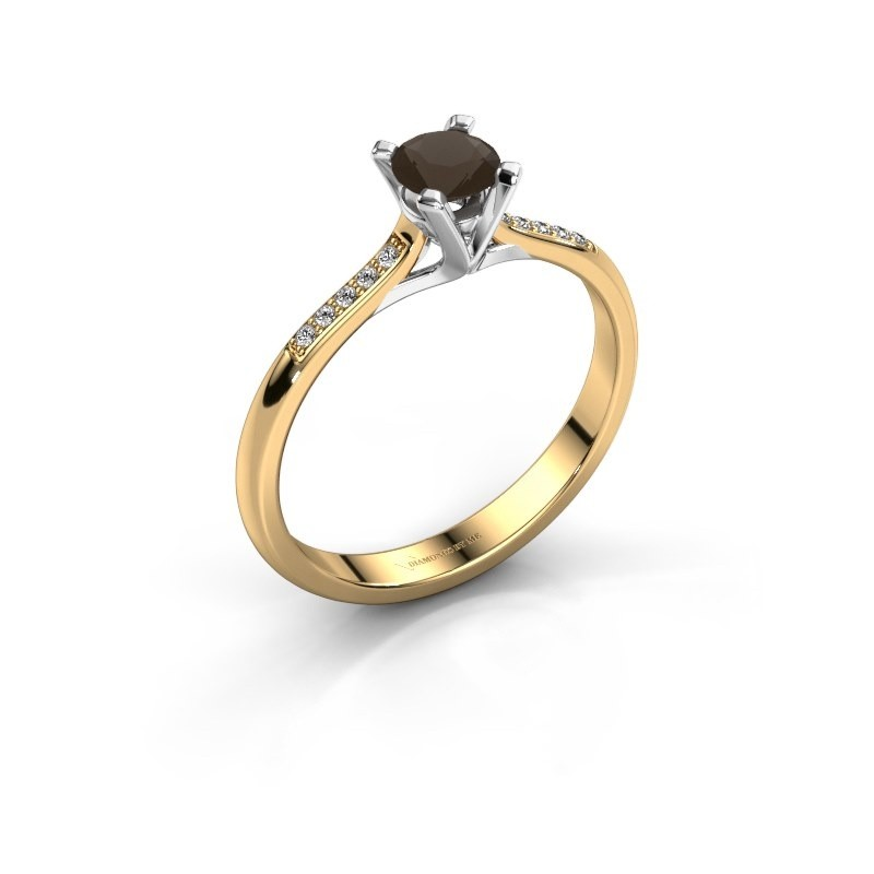 Verlobungsring{ucf Isa 2 375 Gold Rauchquarz 4.2 mm