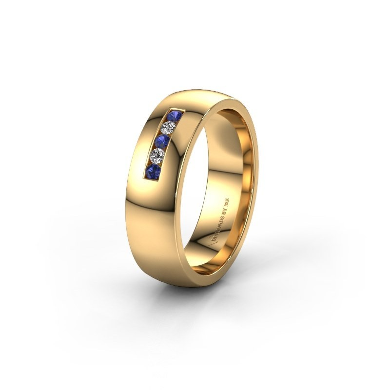 Ehering WH0107L26BP 585 Gold Saphir ±6x2 mm