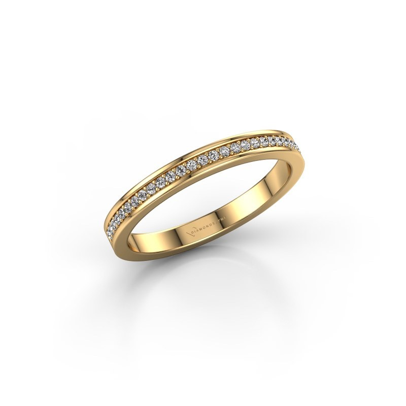 Stackable ring SRH0030B20H2 375 gold diamond 0.135 crt