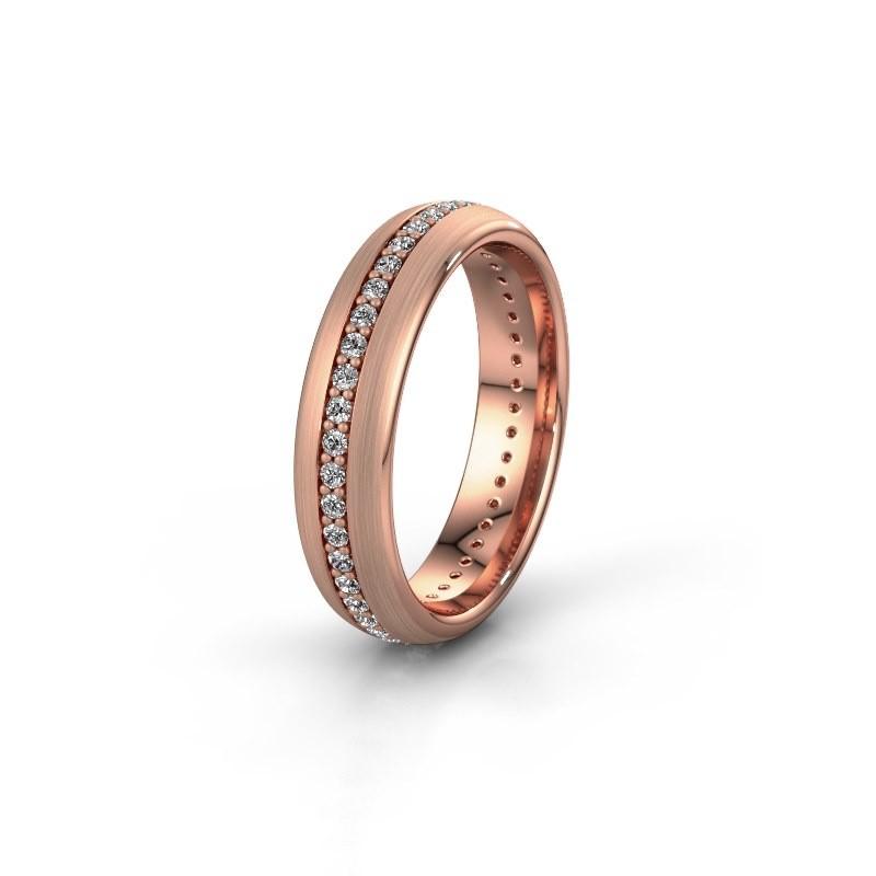 Vriendschapsring WH0103L35BM 375 rosé goud diamant 0.44 crt ±5x2 mm