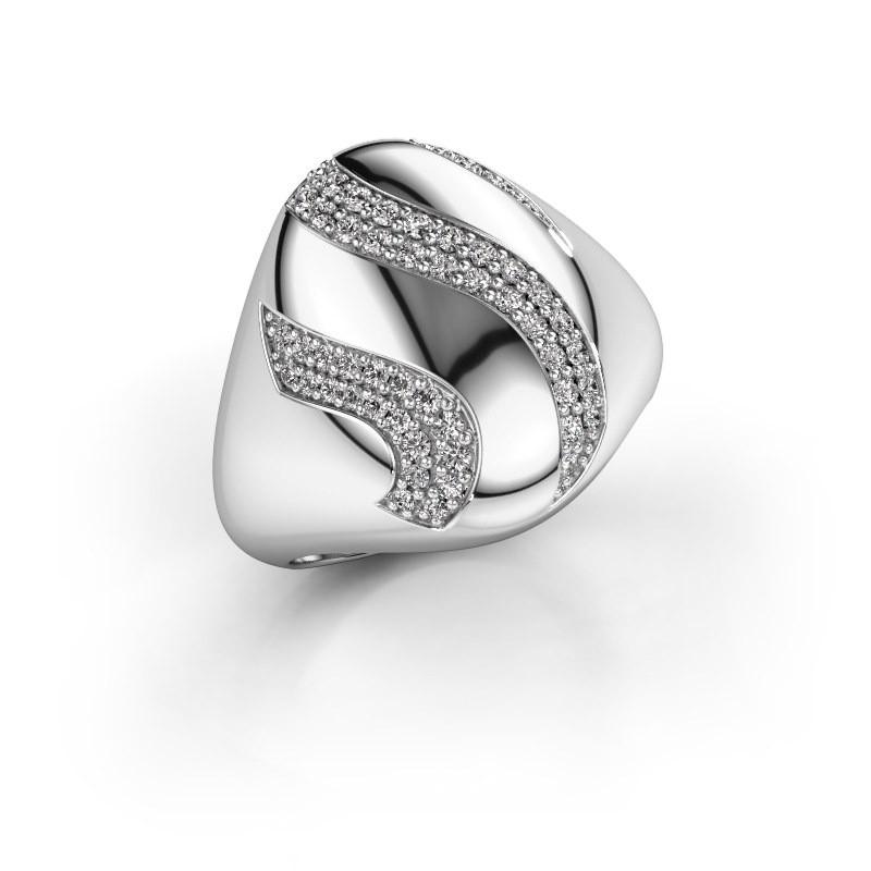 Ring Vilma 585 witgoud diamant 0.333 crt