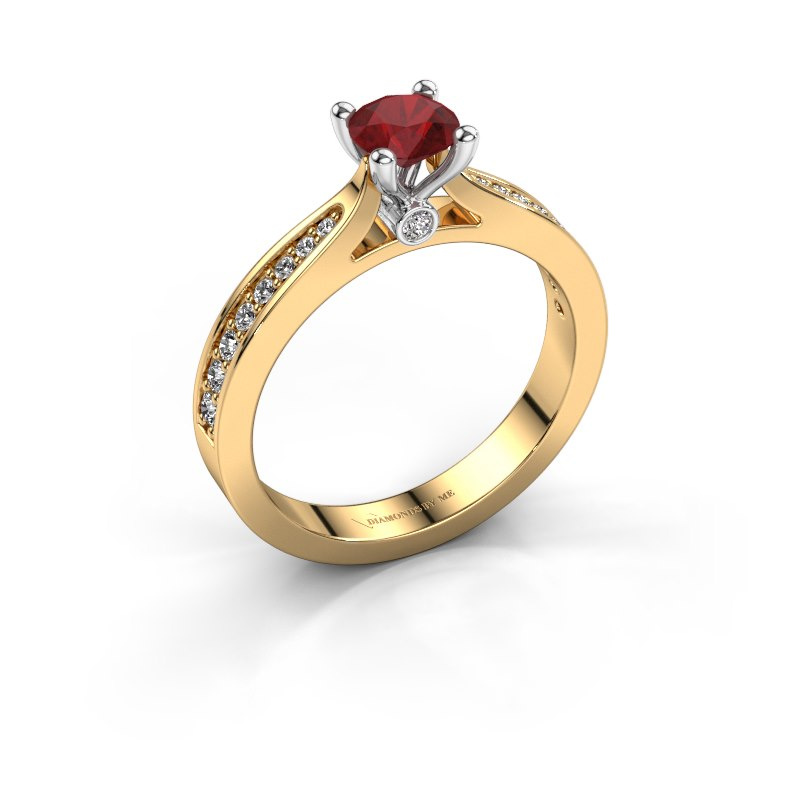 Engagement ring Evelien 585 gold ruby 5 mm