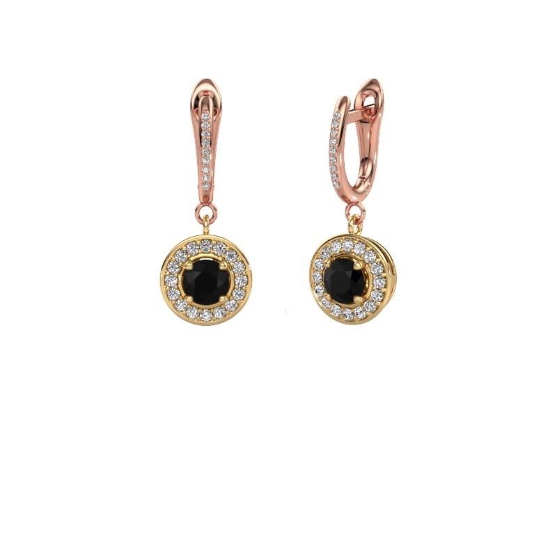 Oorhangers Ninette 2 585 goud zwarte diamant 1.629 crt