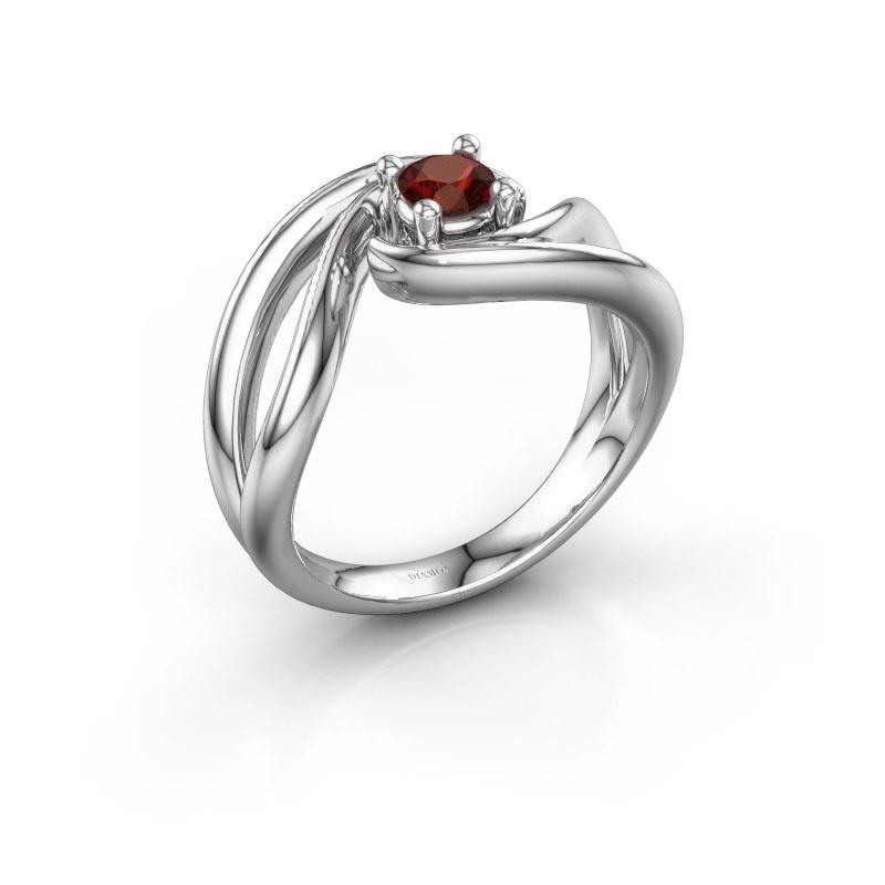 Ring Kyra 925 silver garnet 4 mm