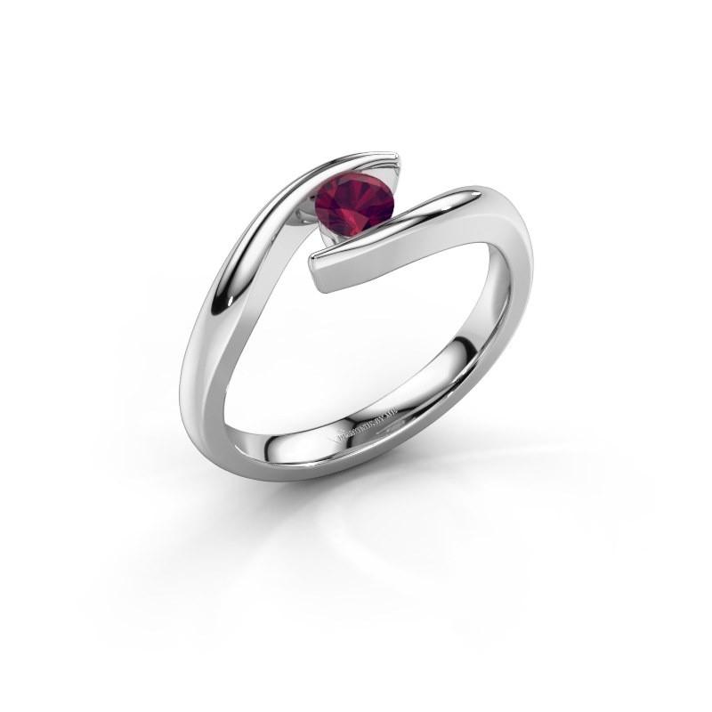 Engagement ring Alaina 925 silver rhodolite 4 mm