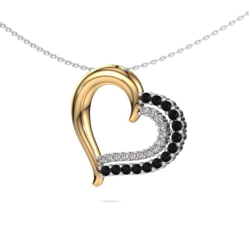 Necklace Kandace 585 gold black diamond 0.638 crt