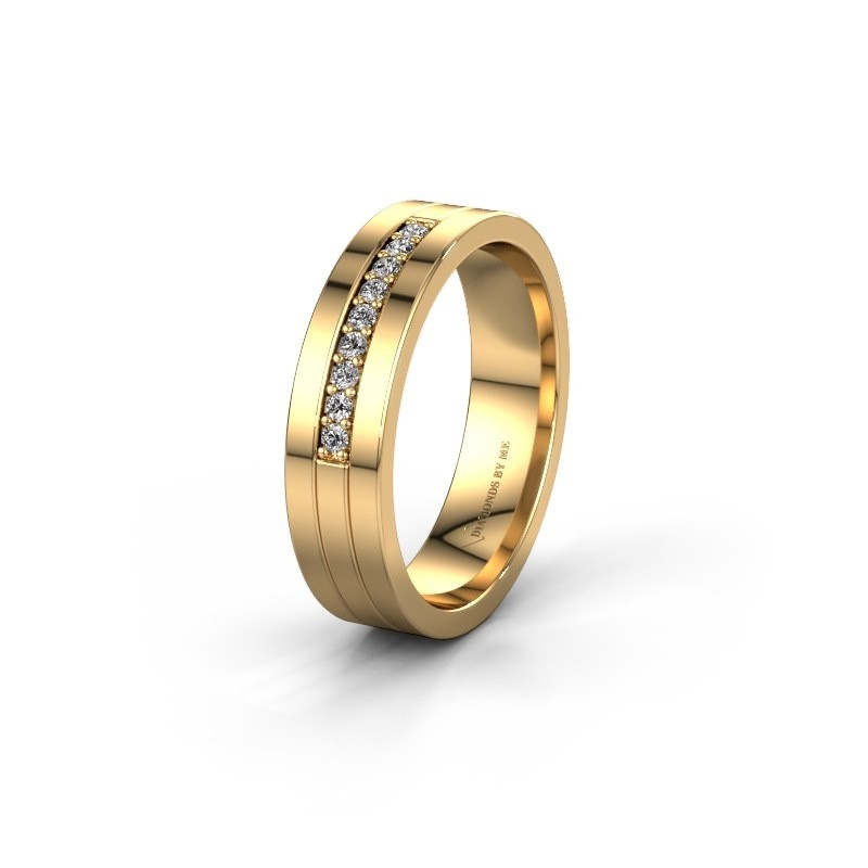 Trouwring WH0413L15AP 585 goud lab-grown diamant ±5x1.7 mm