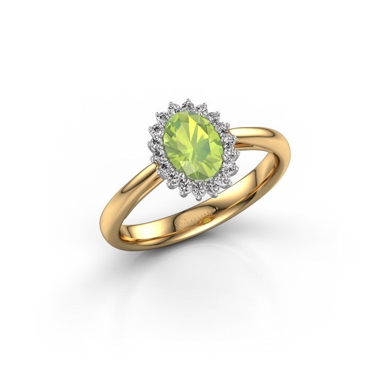 Engagement ring Tilly ovl 1 585 gold peridot 7x5 mm