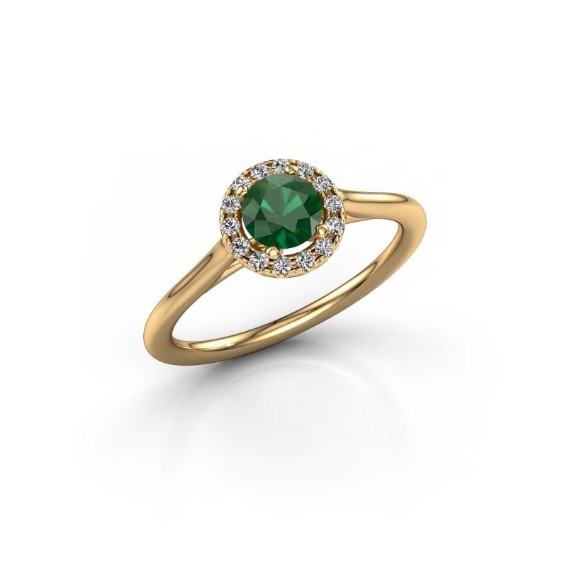Verlovingsring Marty 1 375 goud smaragd 5 mm