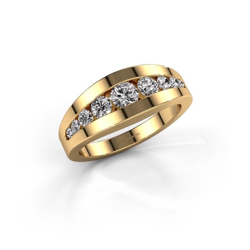 Ring Oneida 375 gold diamond 0.71 crt