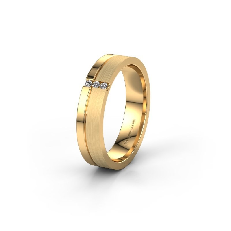 Trouwring WH0157L14XPM 585 goud diamant ±4x1.4 mm