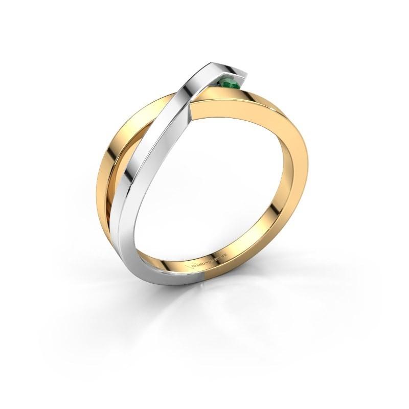 Ring Alyssa 585 gold emerald 2 mm