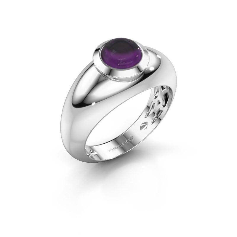 Ring Sharika 925 zilver amethist 6 mm