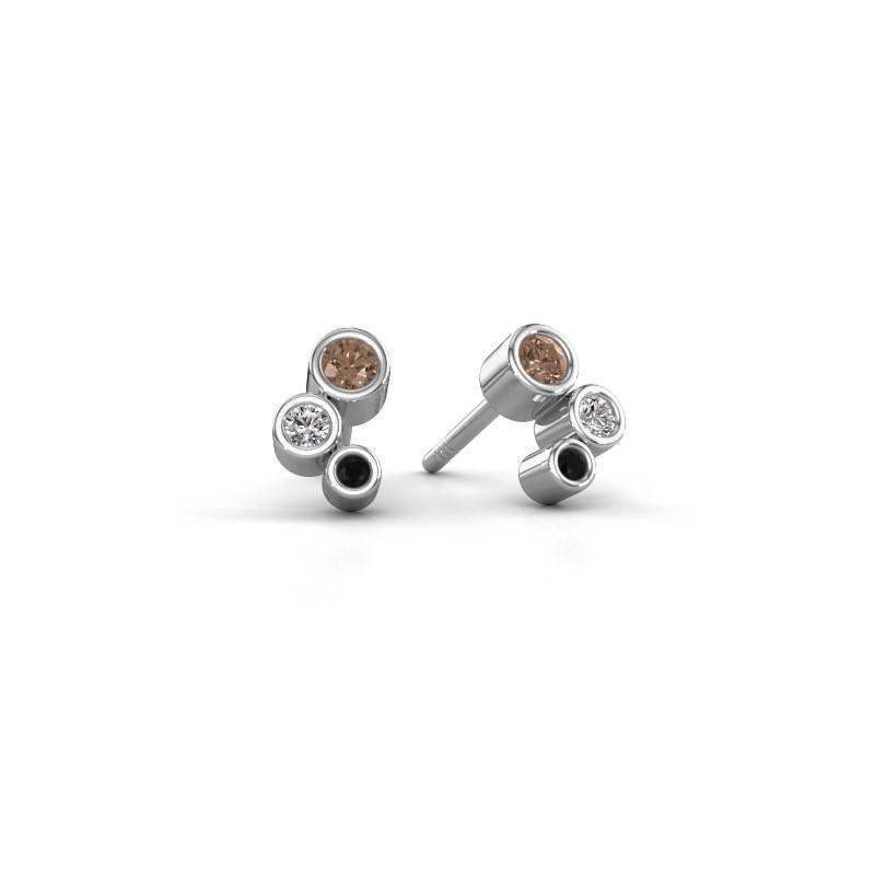 Oorstekers Marlys 925 zilver bruine diamant 0.21 crt