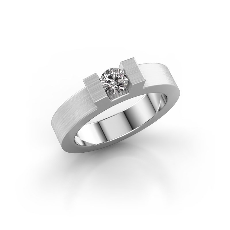 Ring Leena 1 585 witgoud zirkonia 4.2 mm