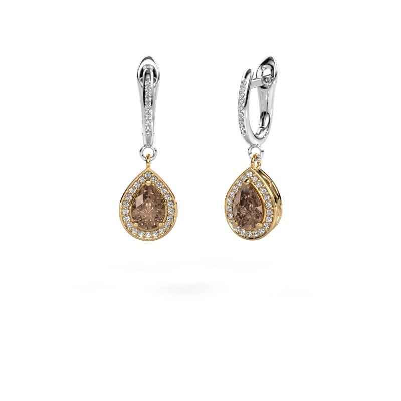 Oorhangers Ginger 2 585 goud bruine diamant 1.455 crt