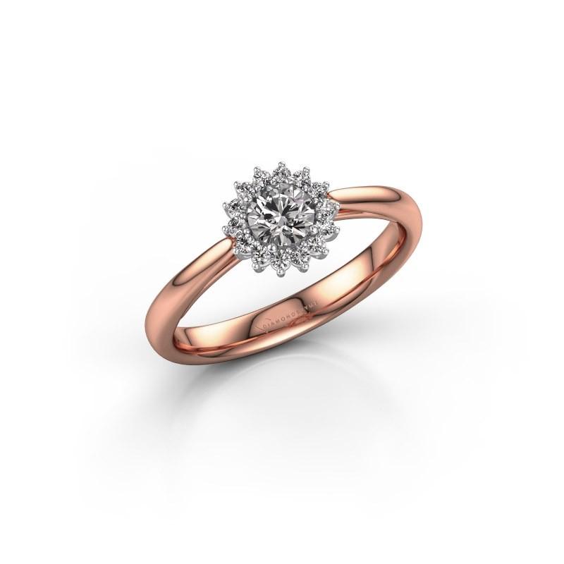 Engagement ring Tilly RND 1 585 rose gold diamond 0.25 crt