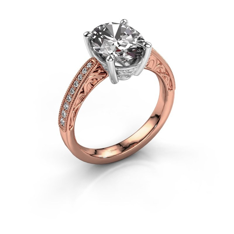 Engagement ring Shonta OVL 585 rose gold diamond 0.93 crt