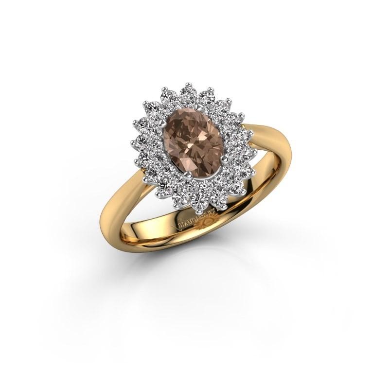 Verlovingsring Alina 1 585 goud bruine diamant 0.80 crt